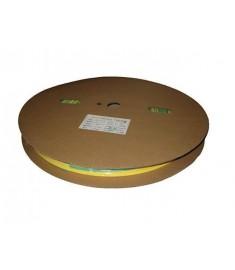 25.4mm Diameter (12.7mm Shrunk) x 50 Metre Spool Earth (Yellow & Green) Heat Shrink Tubing (Tube) 2:1 Ratio