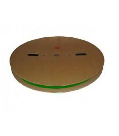 6.4mm Diameter (3.2mm Shrunk) x 100 Metre Spool Green Heat Shrink Tubing (Tube) 2:1 Ratio