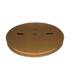 6.4mm Diameter (3.2mm Shrunk) x 100 Metre Spool Orange Heat Shrink Tubing (Tube) 2:1 Ratio