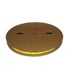 25.4mm Diameter (12.7mm Shrunk) x 50 Metre Spool Yellow Heat Shrink Tubing (Tube) 2:1 Ratio